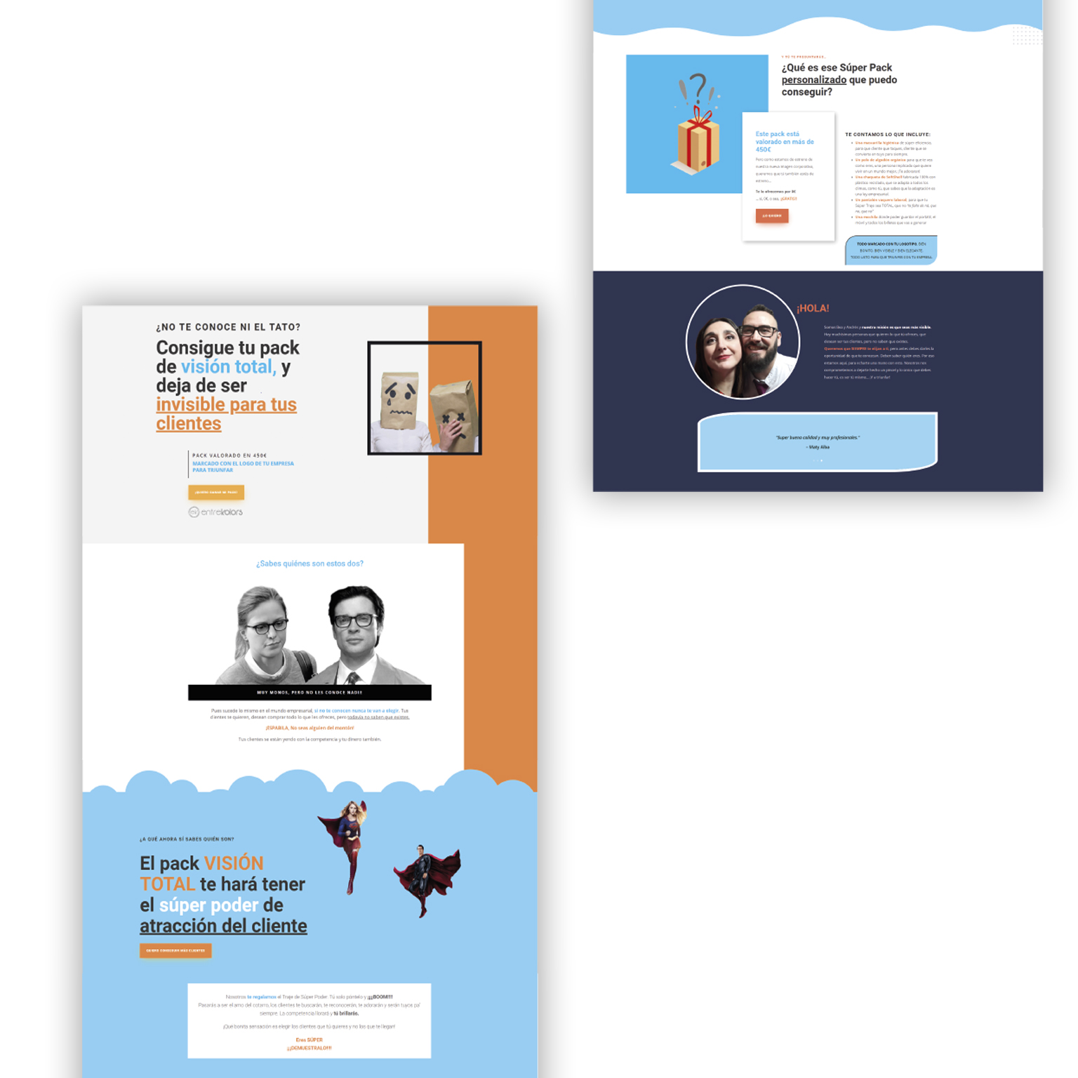 Diseño web entrekolors